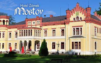 Zámecký wellness pobyt v Hotelu Zámek Mostov: 3-5 dní pro dva s polopenzí ve všední dny