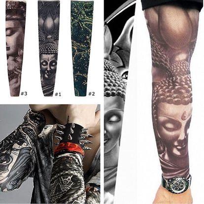 Natahovací rukáv s tetováním