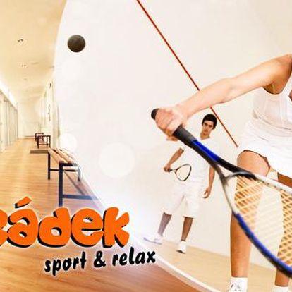 Pronájem kurtu na squash na 1 hodinu ve sportovním centru Hrádek