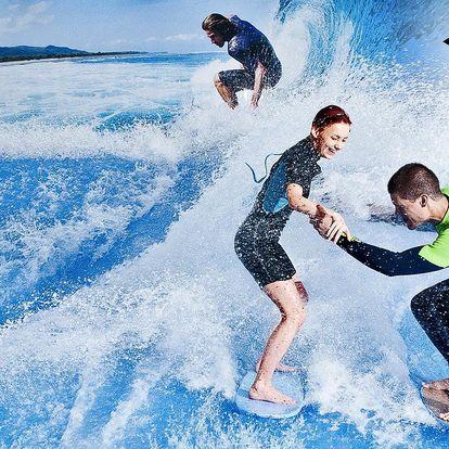 Surfování na trenažéru až pro 12 osob + raut