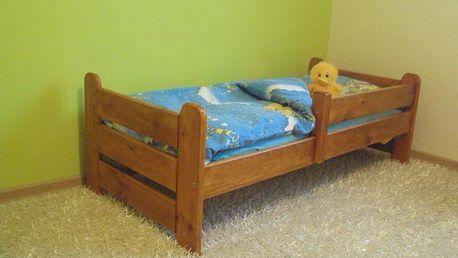 Dětská postel Kubus 80x160 cm | Ořech - lak