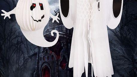 Halloweenská dekorace v podobě ducha - 2 varianty