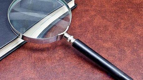 Kapesní lupa 75 mm s pětinásobným zvětšením