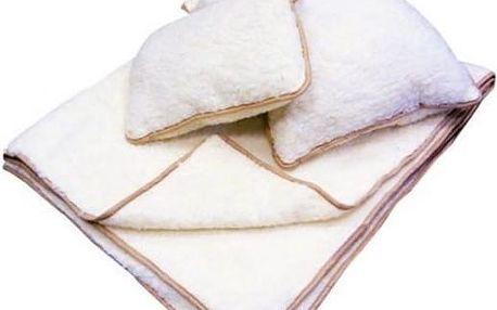 Hřajivé ložní sety: prošívaná přikrývka a polštář pro alergiky nebo sada s příměsí ovčí vlny
