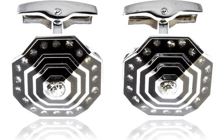 Fashion Icon Manžetové knoflíčky osmihran s krystalky