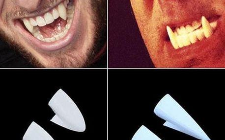 Upíří zuby na karneval - 4 ks - poštovné zdarma