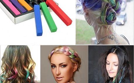 6 barevných kříd na vlasy - poštovné zdarma
