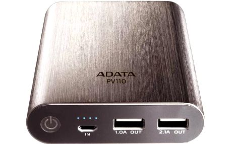 A-Data PV110 10400 mAh (APV110-10400M-5V-CTI) titanium