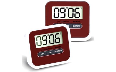 Kuchyňský časovač s hlasitým alarmem - 2 ks - poštovné zdarma