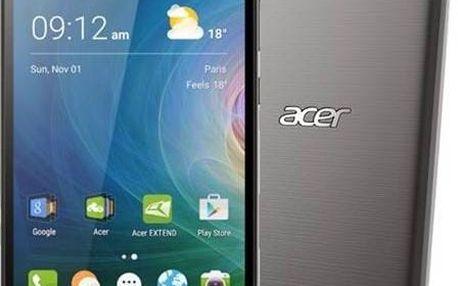 Mobilní telefon Acer s HD displejem a čtyřjádrovým procesorem - černý