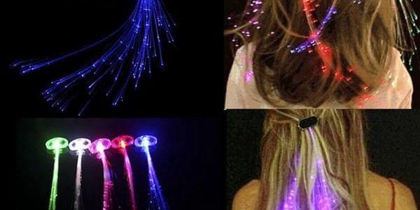 1 LED svítící pramínek do vlasů - dodání do 2 dnů