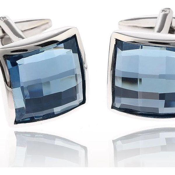Fashion Icon Manžetové knoflíky s krystalem rhodiované