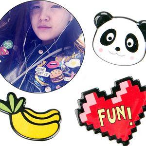 Brože sada Panda 3 ks akrylové odznaky
