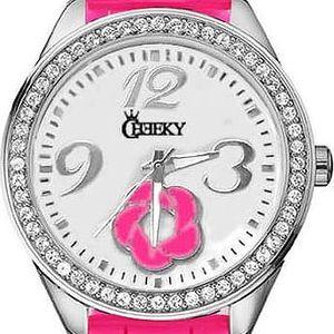 Dámské hodinky Cheeky HE017 zářivě růžové