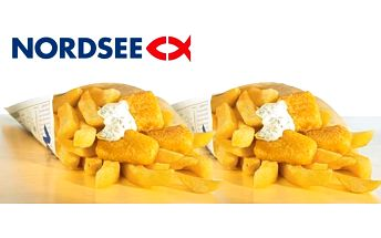 2x fish&chips s sebou z restaurace NORDSEE
