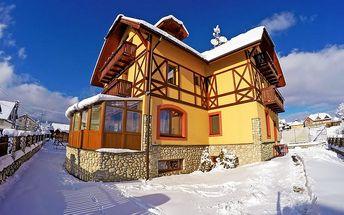 Zimní nebo silvestrovský pobyt ve Vysokých Tatrách s polopenzí a saunou