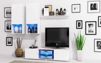 Stylová obývací stěna DECO Bílý mat / Bílý mat