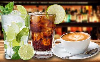 Odměňte se: 2 kávy, vína nebo barevné koktejly