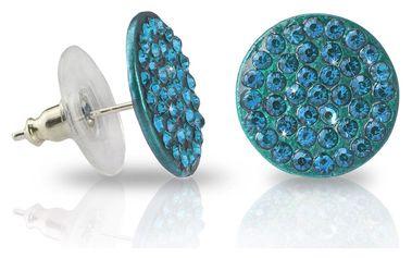 Fashion Icon Náušnice kulaté s barevnými krystalky