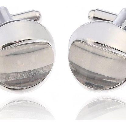 Fashion Icon Manžetové knoflíky kulaté s krystalem