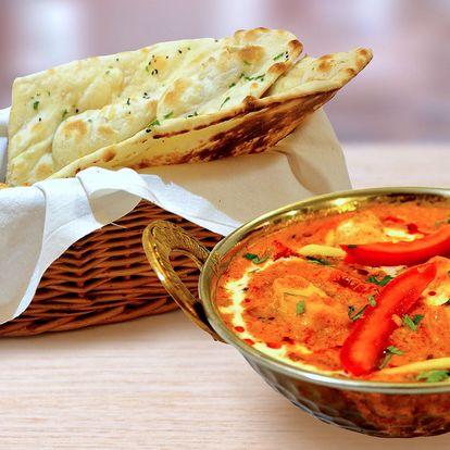 Indické menu dle vlastního výběru