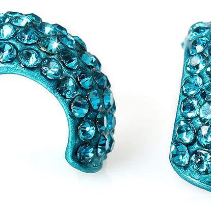 Fashion Icon Náušnice polokroužky s krystaly