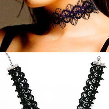 Fashion Icon Náhrdelník choker krajkový gothic styl