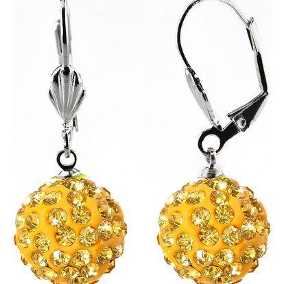 Fashion Icon Náušnice kuličky malé s krystaly