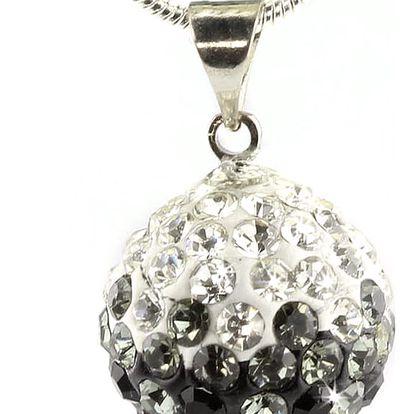 Fashion Icon Přívěsek discoballs dvoubarevný velké s krystaly + řetízek ZDARMA