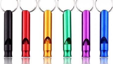 Barevné bezpečnostní píšťalky - 6 kusů - poštovné zdarma
