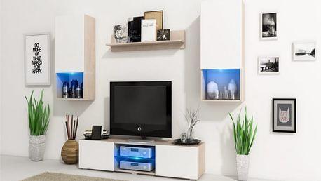 Trendy obývací stěna VERO Sonoma / Bílý mat