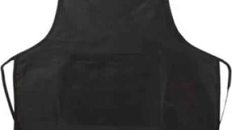 Kuchyňská zástěra v černé barvě - dodání do 2 dnů
