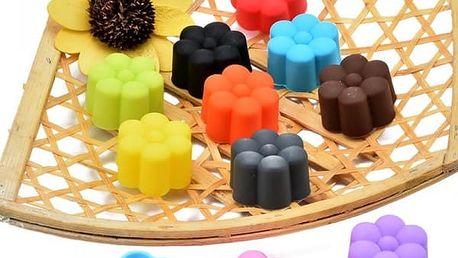 10 kusů silikonových formiček ve tvaru kytiček - poštovné zdarma