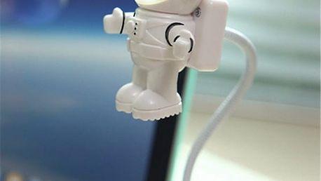 Nastavitelný USB LED svítící astronaut - poštovné zdarma
