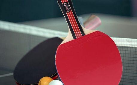 Pálka na stolní tenis s nepromokavým pouzdrem - 2 barvy - poštovné zdarma