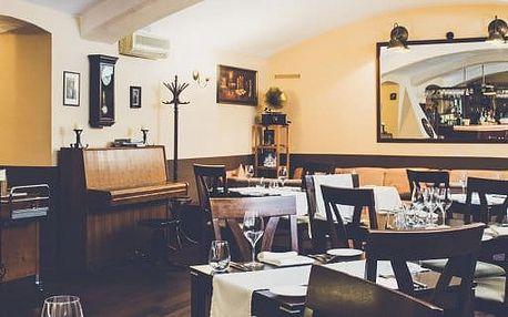 Famózní jídlo a aperitiv pro dva v Restaurantu U Emy Destinové