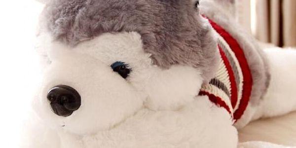 Plyšový polštář - Husky - 40 cm