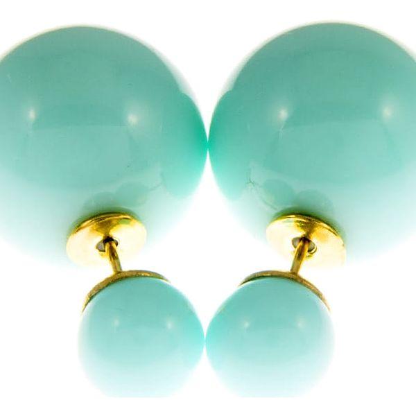 Fashion Icon Náušnice kuličky pastelové oboustranné