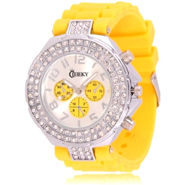 "Dámské hodinky Cheeky HE003 žluté vzhled ""chronograf"""