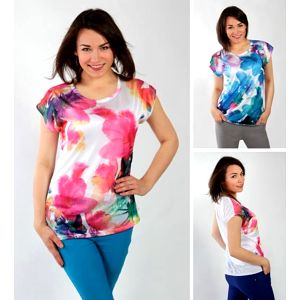 Barevné dámské tričko Aquarella