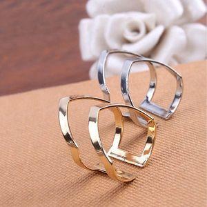 Dvojitý prsten - stříbrná barva - skladovka - poštovné zdarma