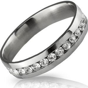 Prsten s krystalky po obvodu