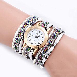 Dámské elegantní hodinky se zajímavě provedeným páskem - 6 barev - poštovné zdarma
