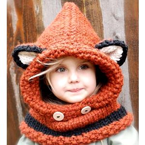 Dětská čepice s ušima Liška