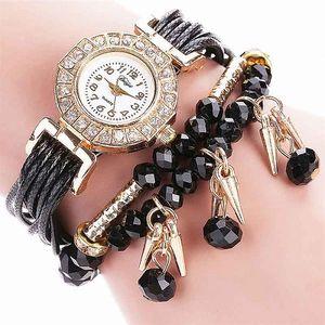 Dámské vícevrstvé hodinky s korálky