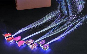 Svítící doplněk do vlasů s motýlkem