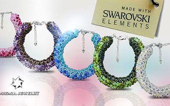 Náramek Swarovski Elements - výběr z 5 barevných variant