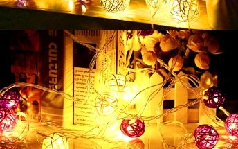 Světelný řetěz s 20 LED koulemi - poštovné zdarma