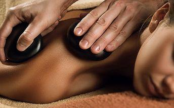 Masáž dle výběru včetně masáže zad + lávové kameny nebo masáž celého těla, Praha 1