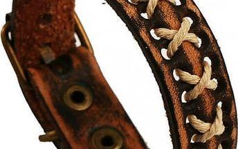Pánský koženkový náramek v zajímavém provedení - poštovné zdarma